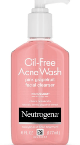Neutrogena Oil Free Acne Wash Pink Grapefruit Facial Cleanser 165x300 - Skin care routine