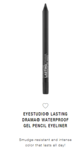 maybelline black waterproof eyeliner pencil